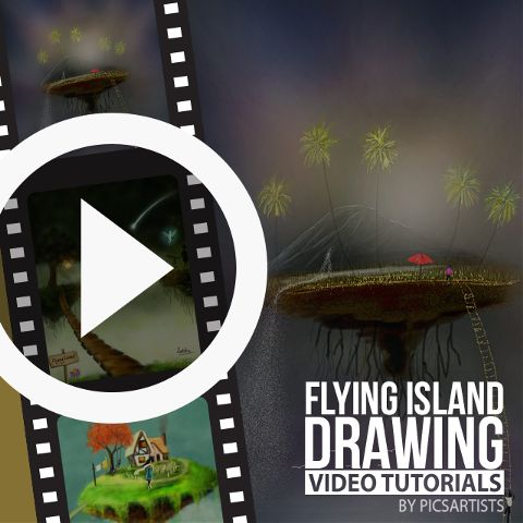 Flying Island time lapse video