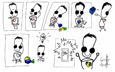 pencilart comicstrip emotions