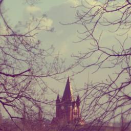 church tower travel sky nature