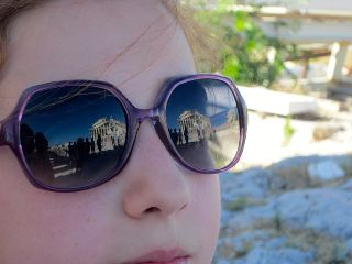 greece atene acropoli sunglasses reflections