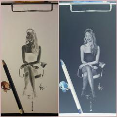 drawing people art blackandwhite
