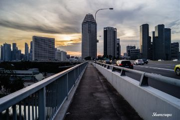 bridge landscape photography sunset singapore