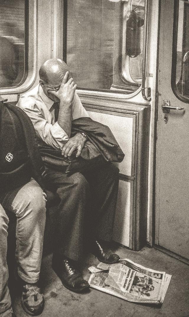 #subway #people #blackandwhite