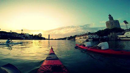 emotions photography sunset kayak seville