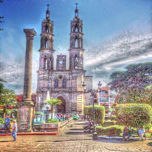 Catedral de Nuestra Señora de la Asunción y Plaza Principal de Tepic..  Tepic, Nayarit, México.   #catedral de #provincia #mexicana #tepic #nayarit #mexico #cuna del gran #poeta #AmadoNervo.. #hdr