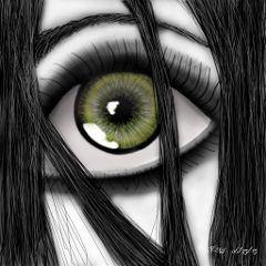 eye blackandwhite art drawing draw