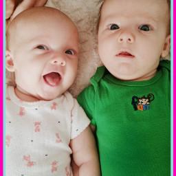 babies twins happy pictuteoftheday babygirl