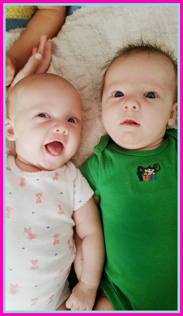#babies  #twins #happy #pictuteoftheday #babygirl  #babyboy #love #daughter #son  #brother #sister  #2months