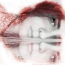 whiteart artisticselfie selfie reflection emotions
