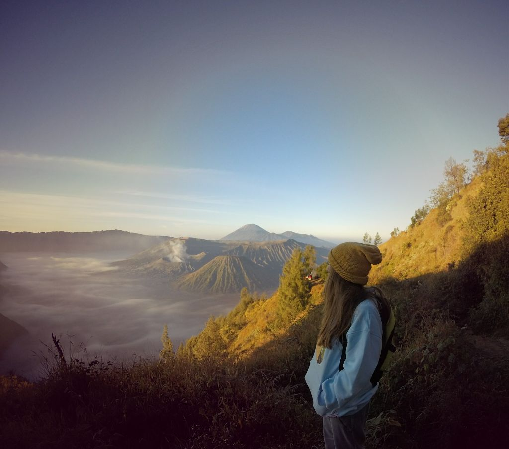Me in the Bromo volcano 🌋  #travel #summer #nature #gopro