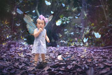 portrait baby dreams purple