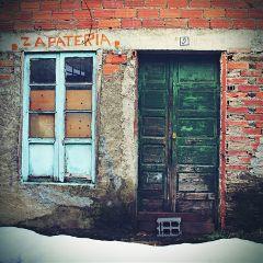 window door vintage retro photography