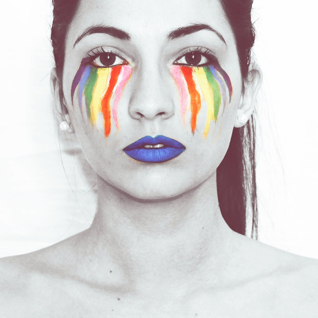 • can you cry in color?  #Saturated #colorful #nature #photoart  #model #me