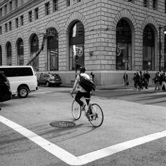 bike sf street bw
