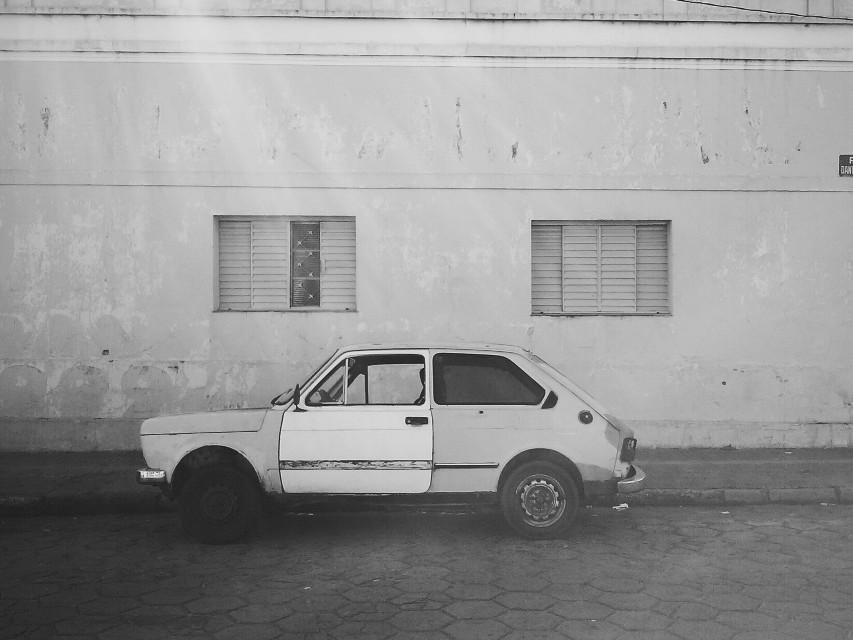 #blackandwhite #urban #car #street #window #wall