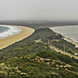 tasmania brunyisland theneck isthmus australia
